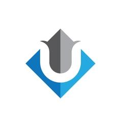 U Letter Logo Template vector