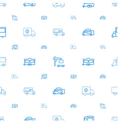 Van icons pattern seamless white background vector