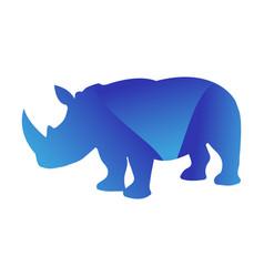 Wild rhino animal jungle pet logo silhouette vector