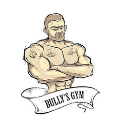 Bullys Gym vector image