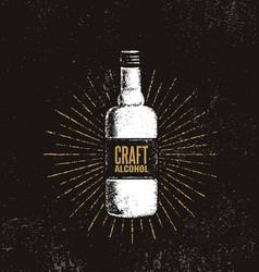 craft alcohol brewery artisan creative vector image vector image
