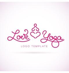 Love Yoga Abstract Logo Template vector image vector image