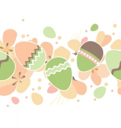 seamless horizontal Easter pattern vector image vector image