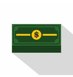 Stack of dollars icon flat style vector image