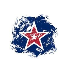American flag star grunge symbol vector image vector image
