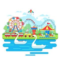 Amusement park concept vector image