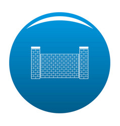 Fence of brick icon blue vector