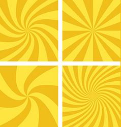 Golden and light brown spiral background set vector