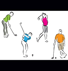 golf men set vector image vector image