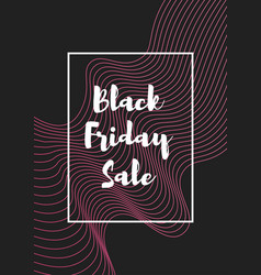 pink abstract black friday banner vector image