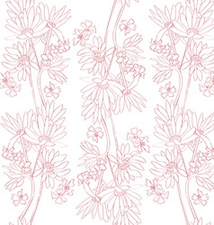 pink orchids pattern vector image vector image