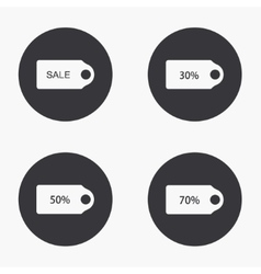 modern sale icons set vector image vector image
