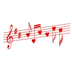 Valentines musical background Love songs vector image vector image