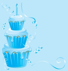 baby boy cupcake birthday vector image vector image