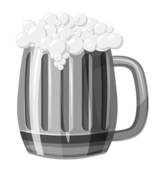 Beer mug icon gray monochrome style vector image