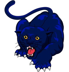 blue panther vector image