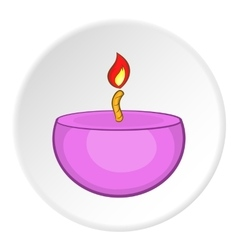 Candle icon cartoon style vector image vector image