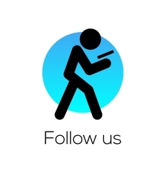 Follow Us sign for social media community vector image vector image