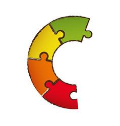 puzzle diagram pieces image vector image