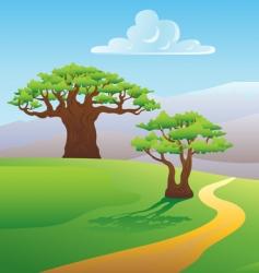 scenic summer landscape vector illustration vector image vector image