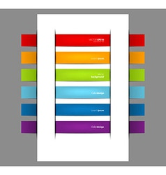 Set of color stickers vector image vector image