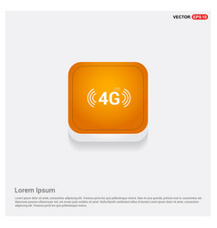 4g icon orange abstract web button vector
