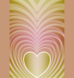 Abstract vertical background with heart shape in vector