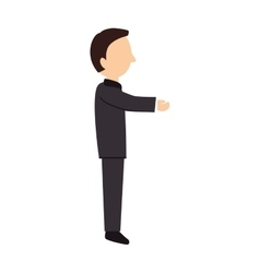 adult profile side hand vector image