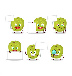 Amla cartoon in character bring information board vector