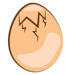 An egg ready to hatch or color vector