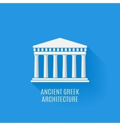 Ancient Greek architecture Icon vector