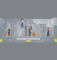 apartment renovation service flat website vector image