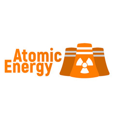 atomic energy logo and icon energy label for web vector image