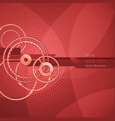 background with stripes and circles vector image