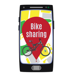 Bike sharing service concept flat vector