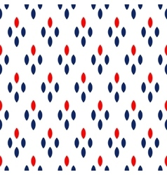 Blue red and white dots simple geometric seamless vector