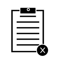 Cancel form icon on white background cancel form vector