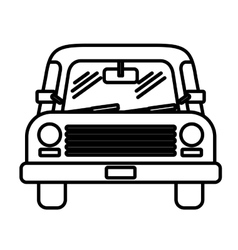Car front isolated icon design vector