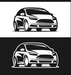 car icon silhouette vector image