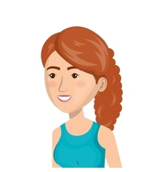 Cartoon girl sport icon vector