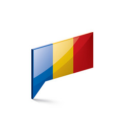 Chad flag on a white vector