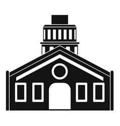 Chapel icon simple style vector