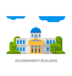 City landscape municipal building vector