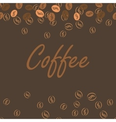 Coffee brown poster print for cards bar drink vector