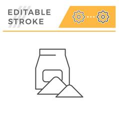 concrete pack line icon vector image