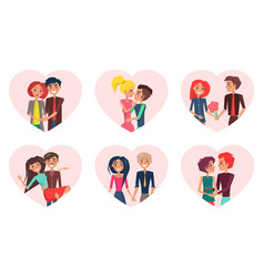 Couples in love and pastime vector