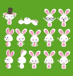 Cute bunnies vector