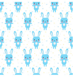 cute seamless pattern with cartoon bunny cartoon vector image