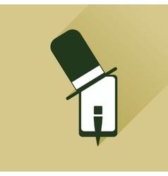 Flat web icon with long shadow mobile gentleman vector