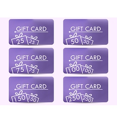 Gift card with a gift box Realistic gift card vector image vector image